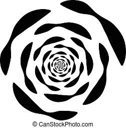 Abstract circular element - Monochrome abstract circular...