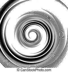 Spiral pattern Vortex, volute visual effect - Abstract...