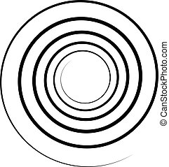 Abstract spiral element. Twirl, swirl, whorl shape. -...