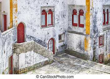Sintra Courtyard With White Walls