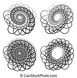 Abstract random squiggly, spirally lines Swirling, rotating...