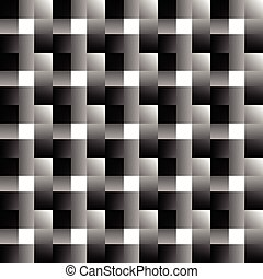 Mosaic of squares Abstract monochrome background Overlapping...