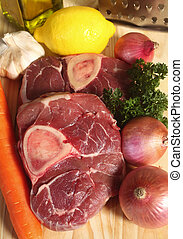 Ossobuco ingredients - Ingredients used in making ossobuco...