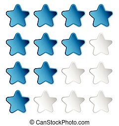 Star rating element with 4 star for valuation, review,...