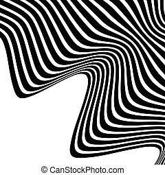 Wavy, waving lines. Lines, stripes with distortion effect....