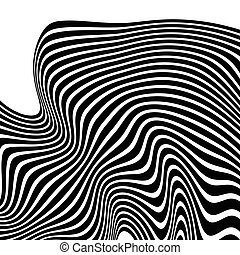 Wavy, waving lines Lines, stripes with distortion effect...