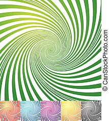 Abstract background(s) with vortex, spiral shape - Abstract...
