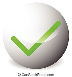 Circle with tick, check mark symbol. Approve, correct, accept, right, validation icon.