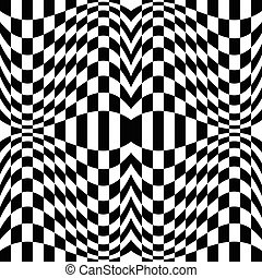 Checkered pattern with distortion effect - Mirrored...