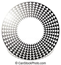 Circle with triangle pattern - Textured circular element...
