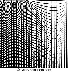 Distorted abstract grid, mesh background, intersecting lines...