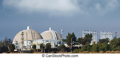 nuclear reactor - Nuclear reactor at San Onofre on a clear...