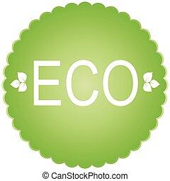 Eco  green icon.