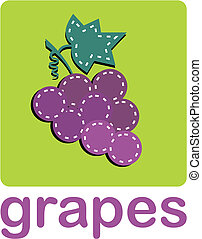 Bunch of grapes - A bunch of grapes over a green...