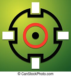 Crosshair, target mark icon, symbol Accuracy, focus,...