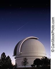 Observatory - Mt. Palomar astronomical observatory at dusk...