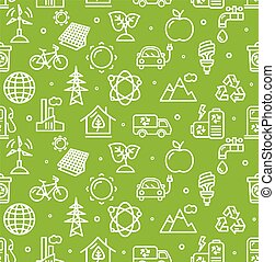 Ecology Background Pattern. Vector