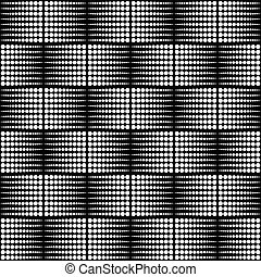 Abstract monochrome dotted half tone pattern. Repeatable.
