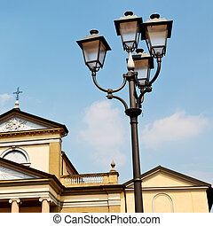 building europe old christian street lamp - column old...
