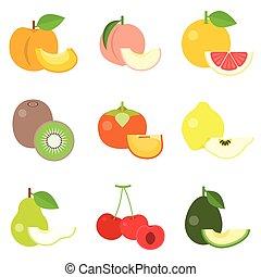 Fruit icons set 3