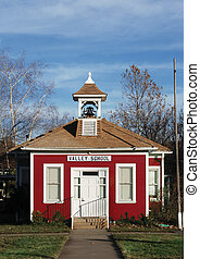 red school house - little red school house with bell tower