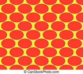 Duotone pop art, polka dots pattern. Seamlessly repeatable...