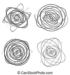 Set of dandom intersecting, tangled circles - Squiggle...