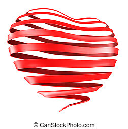 Ribbon Heart - A Ribbon curled into the shape of a heart.