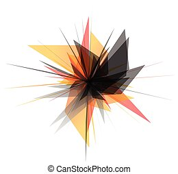 Abstract edgy, geometric graphics Shatters, splinters...