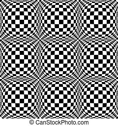 Seamless 3d pattern with mosaic of squares with bulging...