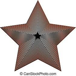 Abstract geometric star shape on white Beveled 3d star