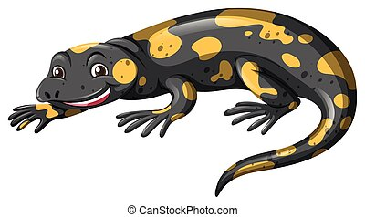 Lizard with black and yellow skin illustration