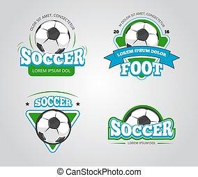 Soccer football vector badges, logos, t-shirt design...