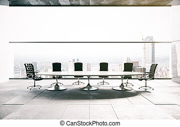 Conference room with city view - Concrete conference room...