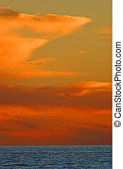 Sea of Cortez Sunset - Sunset over the Sea of Cortez, Mexico