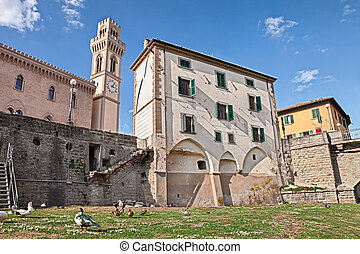 the village Santa Sofia, Forli, Emilia Romagna, Italy - view...