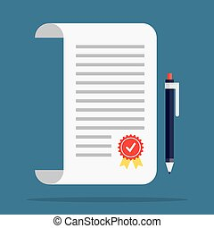 Contract icon in a flat style Contract vector icons Contract...