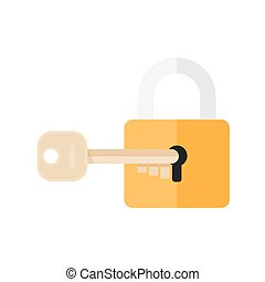 Lock and key lock with key Key lock icon Vector lock icon...