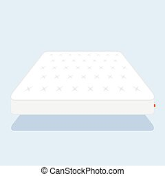 plain white mattress - Double white mattress in flat style...