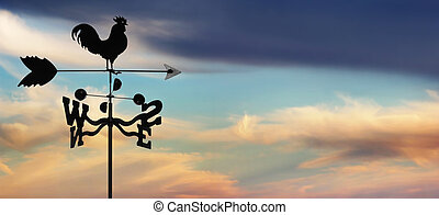 weathervane against cloudscape - iron weathervane against...