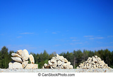 gravel fraction - production of limestone fractions of...