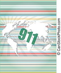 911 words on digital touch screen interface vector quotation...