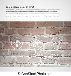 Vector brick wall brochure