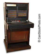 vintage switchboard - vintage telephone switchboard station