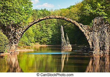 Arch bridge in Germany - Amazing place in Germany -...