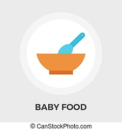 Baby Food Flat Icon - Baby Food Icon Vector Flat icon...