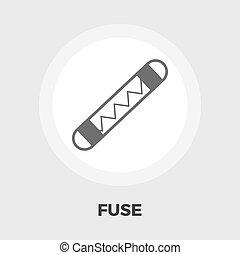 Automotive fuse flat icon - Automotive fuse icon vector....