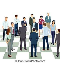 Mitarbeiter Schach.eps - Business strategy
