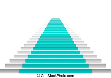staircase with blue carpet. Stairs with a blue carpet. staircase with blue carpet. vector carpet stairs