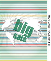 sale percentage on business digital touch screen vector...